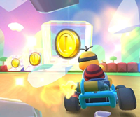The icon of the Lakitu Cup challenge from the 2020 Yoshi Tour and the Birdo Cup challenge from the Mario Tour in Mario Kart Tour.