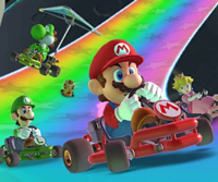 The icon of the Toad Cup challenge from the Marine Tour in Mario Kart Tour.