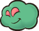 Sprite of a Poison Puff from Paper Mario: The Thousand-Year Door.