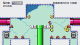The Super Mario Maker 2 Story Mode level Spiny Busters.