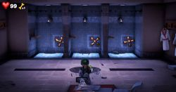 The Shower Room in the Fitness Center in Luigi's Mansion 3