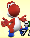 Red Yoshi from Mario Super Sluggers