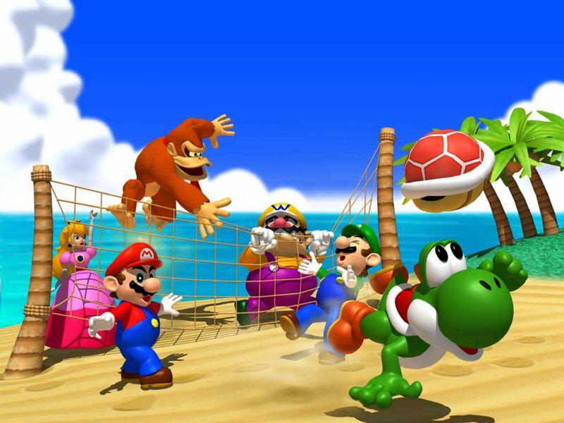 Cast artwork of Yoshi's Tropical Island