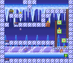 Level 4-2 map in the game Mario & Wario.