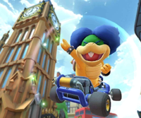 The icon of the Ludwig Cup challenge from the London Tour in Mario Kart Tour.