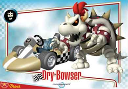 Mario Kart Wii trading card for Dry Bowser.