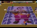 Wario court in the game Mario Tennis (Nintendo 64).