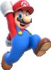 Solo artwork of Mario from Super Mario 3D World.