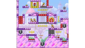 Miiverse screenshot of the 34th official level in the online community of Mario vs. Donkey Kong: Tipping Stars