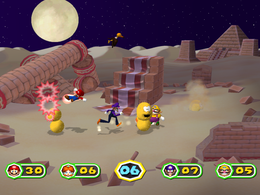 Pokey Punch-out at night from Mario Party 6