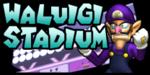 The logo for Waluigi Stadium, from Mario Kart: Double Dash!!