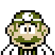 Sprite of 8-Bit Dr. Mario from Dr. Mario World