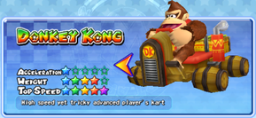 Donkey Kong in a kart from Mario Kart Arcade GP 2