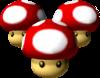 Triple Mushrooms from Mario Kart: Double Dash.