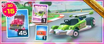 The Green Circuit Pack from the Mario vs. Luigi Tour in Mario Kart Tour