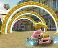 The icon of the Ludwig Cup challenge from the 2021 Paris Tour in Mario Kart Tour.