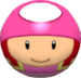 Toadette using the Bowlo Candy.