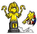 Mario and Egyptian Koopa statue MPL artwork.jpg