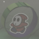 A Red Roller Guy from Paper Mario: Color Splash.