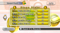 Stage Picks for Dodgeball, in Mario Sports Mix.