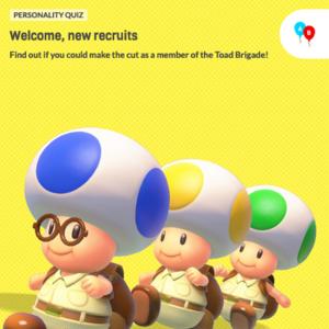 Icon for Captain Toad: Treasure Tracker Nintendo Switch Personality Quiz