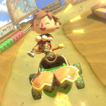 Male Villager performs a trick.