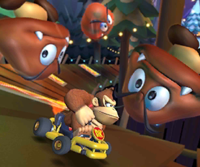 The Donkey Kong Cup Challenge from the Vancouver Tour of Mario Kart Tour