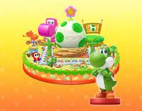 Yoshi as an amiibo in Mario Party 10