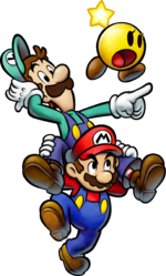 Mario, Luigi, and Starlow