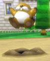 A Monty Mole from Mario Kart Wii
