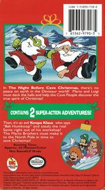 The front and back covers for Super Mario Bros. Super Christmas Adventures!