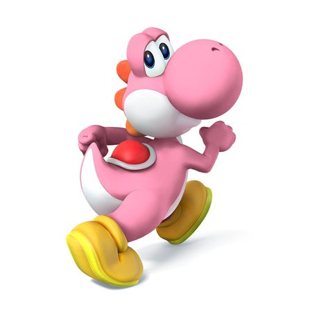 Yoshi palette swaps from Super Smash Bros. for Nintendo 3DS / Wii U.