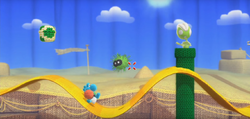 Yoshi's Woolly world 2-1 screenshot