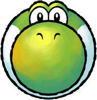 Artwork of Ball Yoshi from Yoshi Topsy-Turvy