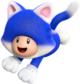 Artwork of Cat Toad from Super Mario 3D World.