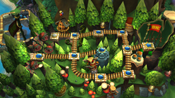 Map of Forest in Donkey Kong Country Returns
