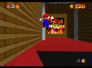 Mario entering the Bowser in the Dark World