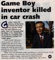 Gunpei Yokoi Death Article.png