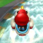 Baby Mario performing a Trick
