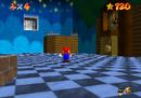 Mario on the third floor of Mushroom Castle