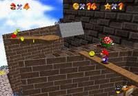 Mario climbing Whomp's Fortress
