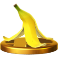 Banana Peel's trophy render from Super Smash Bros. for Wii U