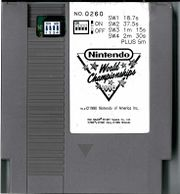 Standard grey cartridge of the Nintendo World Championships 1990