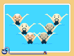 Twin Swimmers, a microgame in WarioWare Gold. Please get original image if possible.
