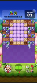 Stage 556 from Dr. Mario World