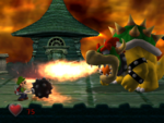 King Boo and Bowser boss battle