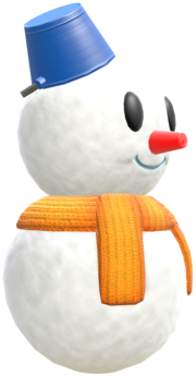 Model of a Snowman from Mario Kart 8