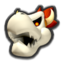 Dry Bowser's icon, from Mario Kart 8.
