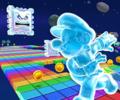 SNES Rainbow Road from Mario Kart Tour