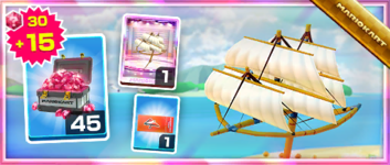 The Great Sail Pack from the Pirate Tour in Mario Kart Tour